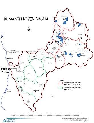 Klamath River - Klamath River watershed boundaries