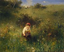 Knaus, Ludwig - Girl in a Field - 1857.jpg