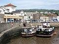 Knightstone Harbour - Bristol Queen and Westward Ho resting in the mud.jpg