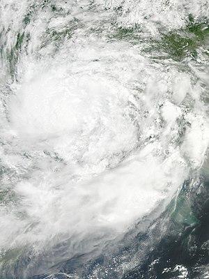 Cyclone Komen - Komen over land on August 2