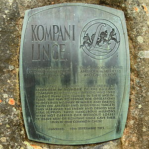 Norwegian Independent Company 1 - Kompani Linge Memorial, Glenmore Forest Park in Scotland