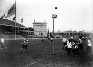 Korfball at the 1920 Summer Olympics - Image: Korfbal op de Olympische Spelen 1920
