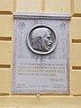 Kossuth Lajos doborműves emléktábla, Szent István utca 17-19, 2017 Nyíregyháza.jpg