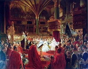 William I, German Emperor - Coronation of William I as King of Prussia at Königsberg Castle in 1861