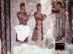 Eristavi - An 11th-century fresco from Racha depicting the eristavi Kvariani.