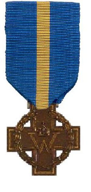 Cross of Merit (Netherlands) - Image: Kruis van Verdienste 1941