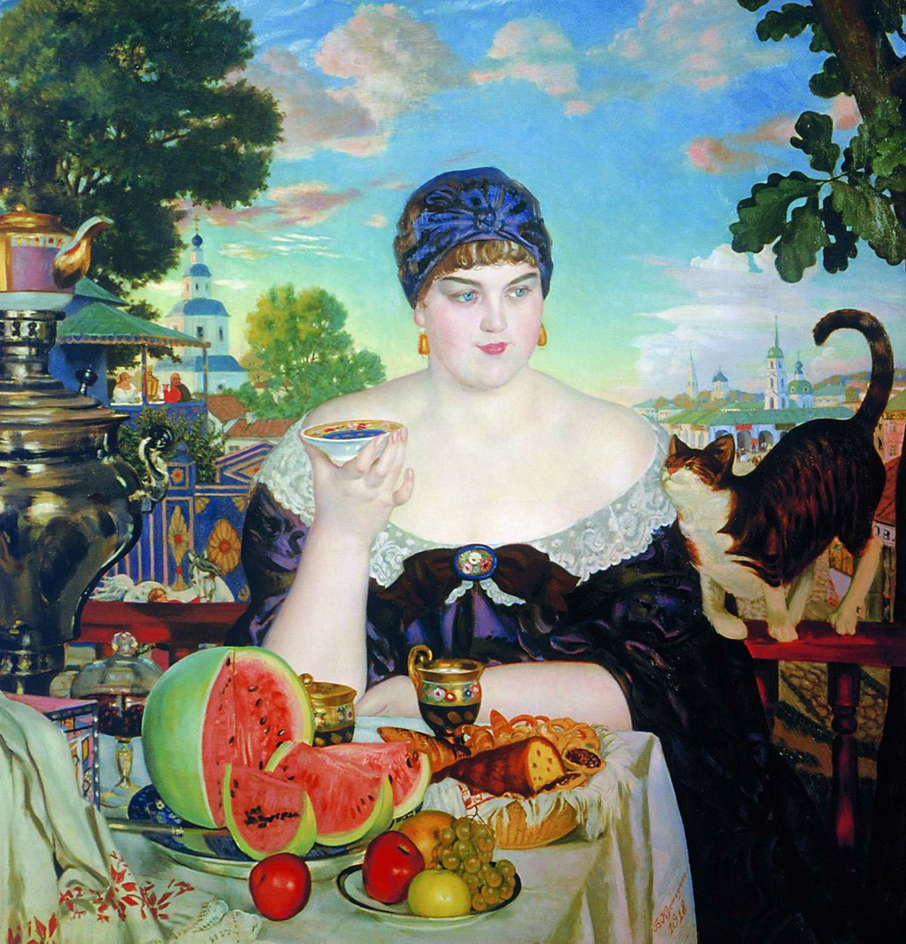 The Merchant's Wife by Boris Kustodiev