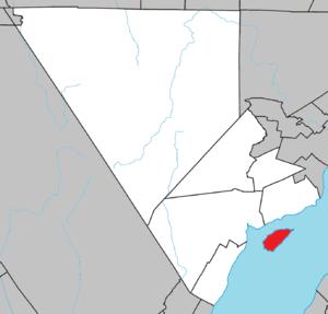 L'Isle-aux-Coudres - Image: L'Isle aux Coudres Quebec location diagram