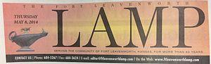 The Fort Leavenworth Lamp - Image: LAM Pnewspaper