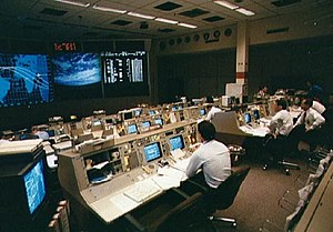 Christopher C. Kraft Jr. Mission Control Center - Flight Control Room 1 during STS-30 in 1989