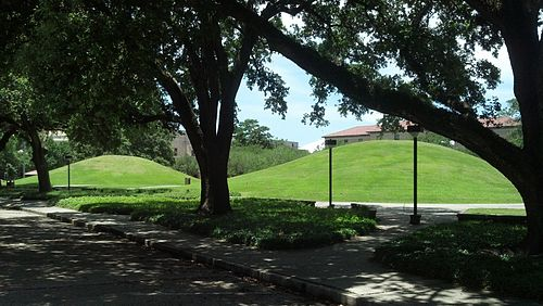 LSU Campus Mounds - Estimated to be over 5,000 years old. LSU Campus Indian Mounds.jpg