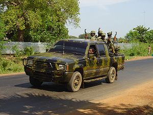 Origins of the Sri Lankan civil war - Tamil rebels in a  truck in Killinochchi in 2004