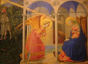 La anunciación de Fra Angélico (Museo del Prado, Madrid).