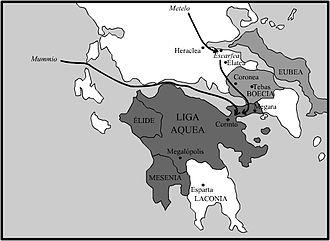 Achaean War - Image: La Guerra Acaica en 146 a C