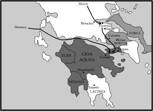 La Guerra Acaica en 146 aC