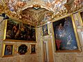 La Sala dell'autunno al secondo piano nobile dopo il restauro concluso nel 2013. La disposizione dei quadri su due livelli riprende quella originaria..JPG