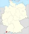 Lage des Landkreises Loerrach in Deutschland.png