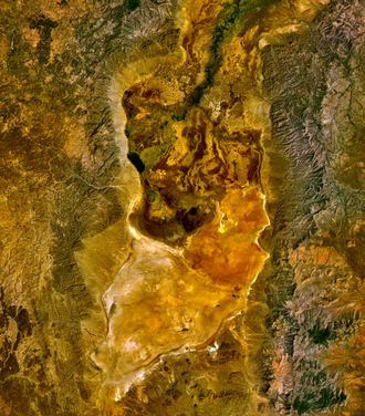 Lake Chew Bahir - The remnants of Lake Chew Bahir - as seen from space.