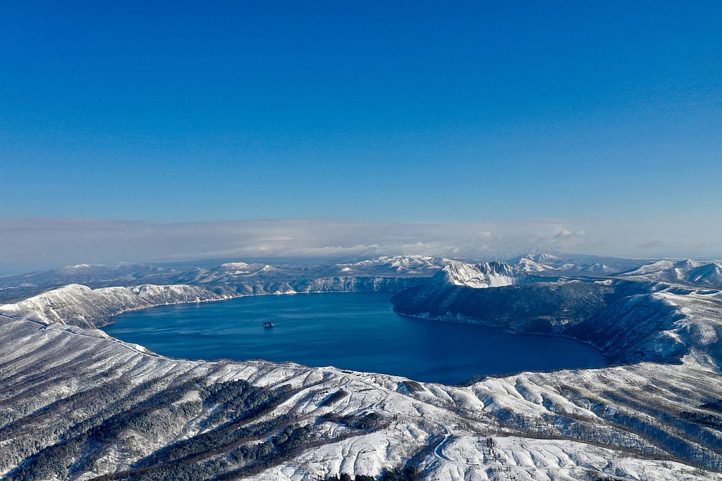 Lake Mashū Japan during wintertime in Akan National Park Hokkaidō.jpg
