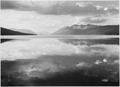 """Lake and mountains, """"McDonald Lake, Glacier National Park,"""" Montana., 1933 - 1942 - NARA - 519868.tif"""