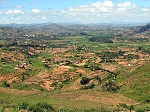 Central Highlands (Madagascar) - Landscape in the Central Highlands region