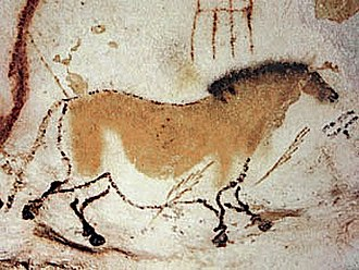 France - One of the Lascaux paintings: a horse – Dordogne, approximately 18,000 BC.