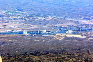 Laughlin, Nevada - Laughlin seen from Spirit Mountain