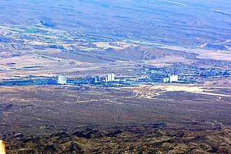 Laughlin, Nevada - Laughlin seen from Spirit Mountain in 2006