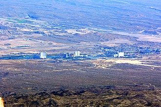 Laughlin, Nevada - Laughlin seen from Spirit Mountain