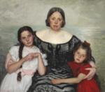 Laurits Tuxen - Portrætgruppe. Frederikke Tuxen med Yvonne og Nina - 1905.png