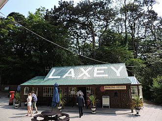 Laxey - The cafe and booking office at Laxey Station
