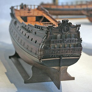Unicorn (ship) - Model of the Brillant, the vessel of Louis XIV's fleet that inspired Hergé to draw the Unicorn.