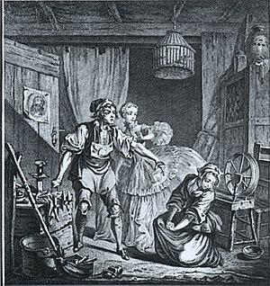 Michel-Jean Sedaine - A scene from Le diable à quatre