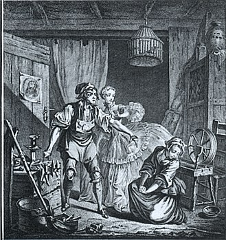 Opéra-Comique - A scene from Le diable à quatre with text by Michel-Jean Sedaine
