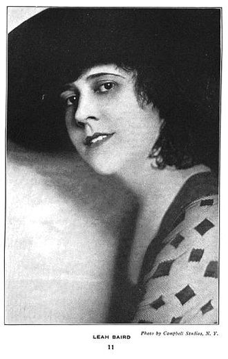 Leah Baird - Photo from The First One Hundred Noted Men and Women of the Screen by Carolyn Lowrey pub. 1920