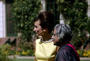 Lee Radziwill - Radziwill (left) and Krishna Hutheesing in India, 1962