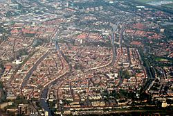 Aerial view of Leiden