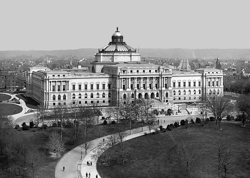 File:Library of Congress, Washington, D.C. - c. 1902.jpg
