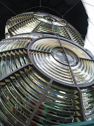 Souter Lighthouse - The 1914 biform optic in the lighthouse.