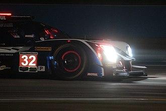 Night game - Ligier JS P217 LMP2 of 2018 12 Hours of Sebring at night.