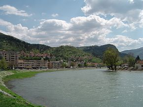 Lim River and view on part of the town of Prijepolje.jpg