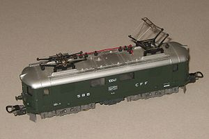 Lima (models) - A HO scale model of SBB CFF FFS electric locomotive made for the European markets.