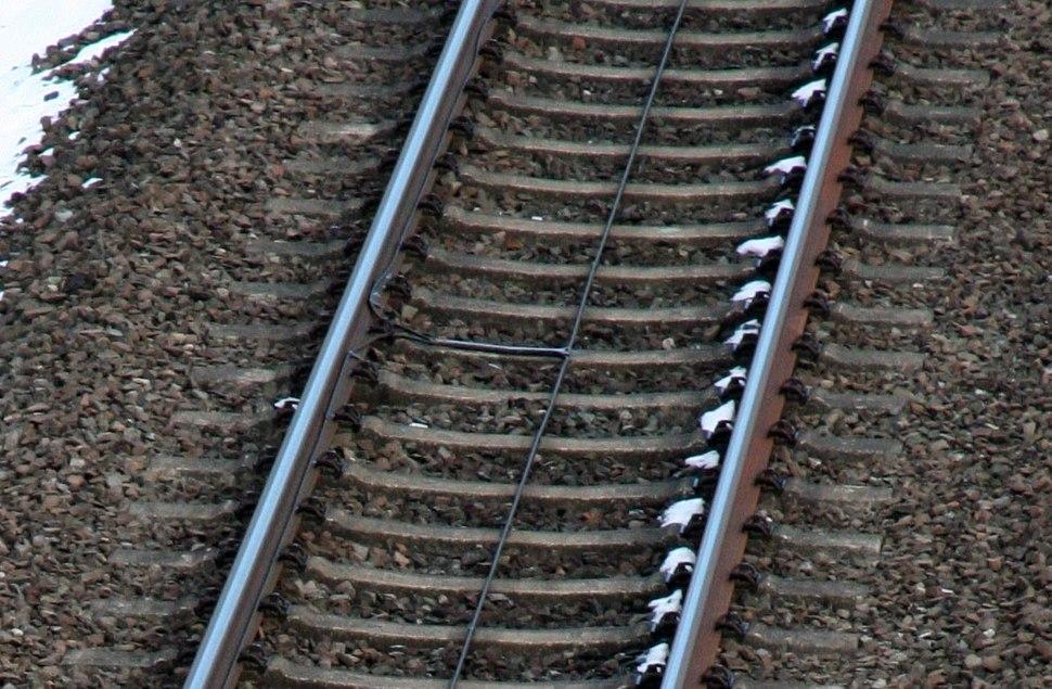 Lininenleiter im Gleis mit Kreuzungsstelle