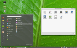 Linux Mint con l'interfaccia Cinnamon