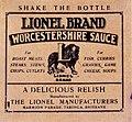 Lionel Brand Worcestershire Sauce label (19250932083).jpg