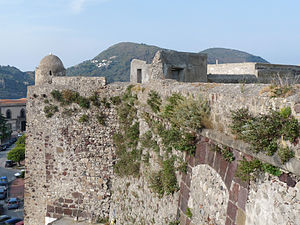 Lipari - The 1556 fortifications, built atop ancient Greek walls.