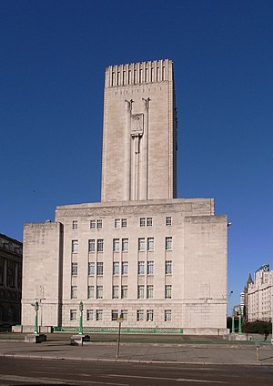 Herbert James Rowse - Ventilation tower, offices and control centre for Queensway Tunnel in George's Dock, Pier Head, Liverpool
