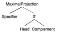 Locality (linguistics) - Local projections of the head.png