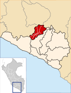 Location of the province La Unión in Arequipa.svg