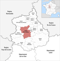 Locator map of Kanton Illiers-Combray 2019.png